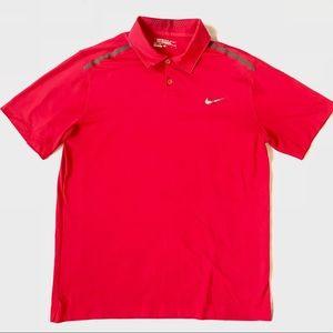 Men's Nike Dri-Fit red golf polo size L